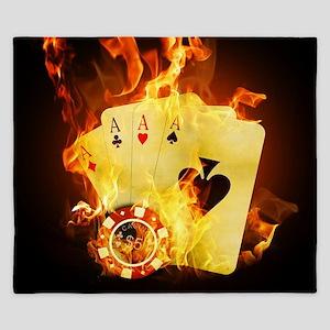 Burning Poker King Duvet