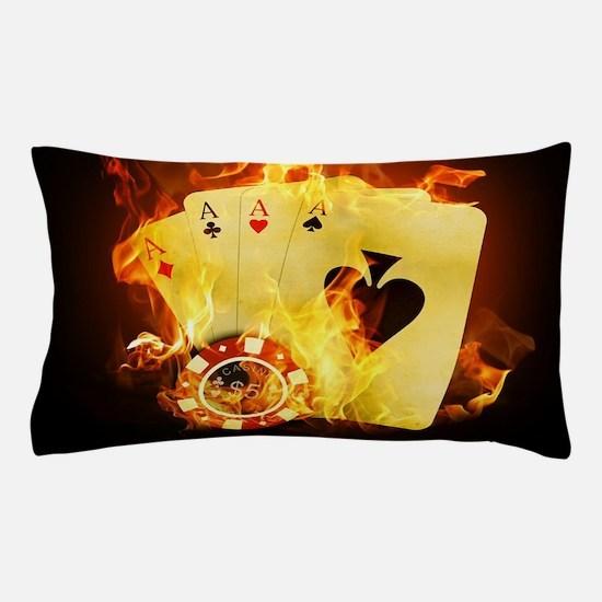 Burning Poker Pillow Case