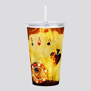 Burning Poker Acrylic Double-wall Tumbler