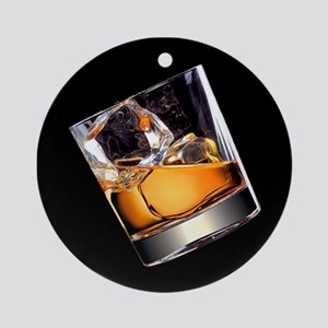 Whisky on the Rocks Round Ornament