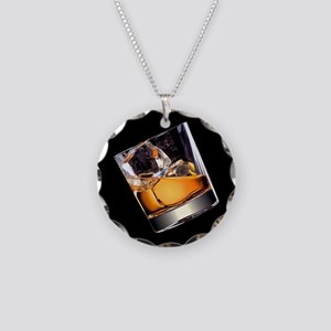 Whisky on the Rocks Necklace Circle Charm