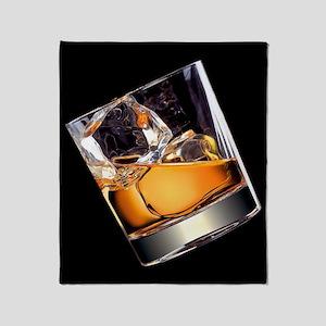 Whisky on the Rocks Throw Blanket