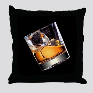 Whisky on the Rocks Throw Pillow