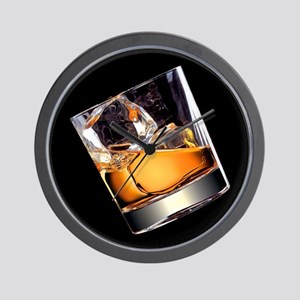 Whisky on the Rocks Wall Clock