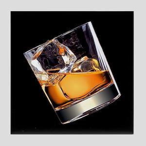 Whisky on the Rocks Tile Coaster