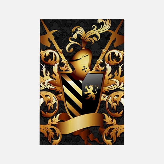Medieval Coat of Arms Rectangle Magnet