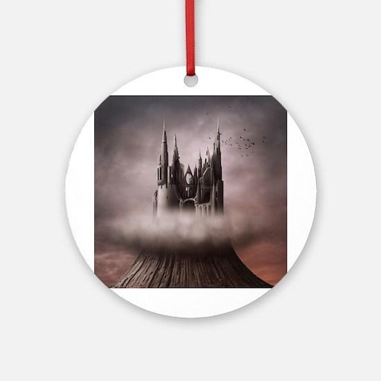 Gothic Castle Ruins Round Ornament