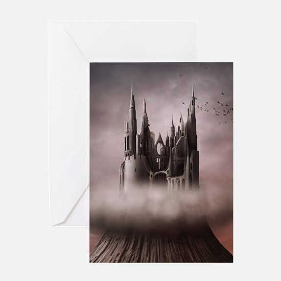Gothic Castle Ruins Greeting Card