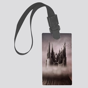Gothic Castle Ruins Large Luggage Tag
