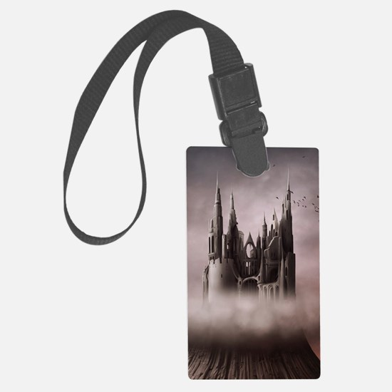 Gothic Castle Ruins Luggage Tag