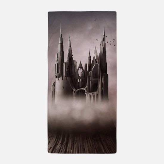 Gothic Castle Ruins Beach Towel