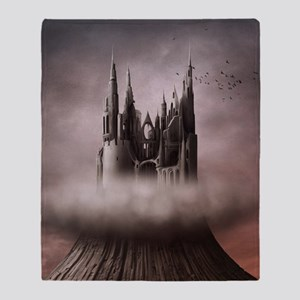 Gothic Castle Ruins Throw Blanket