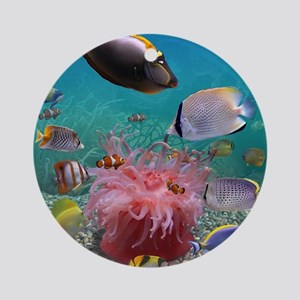 Tropical Fish Round Ornament