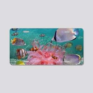 Tropical Fish Aluminum License Plate