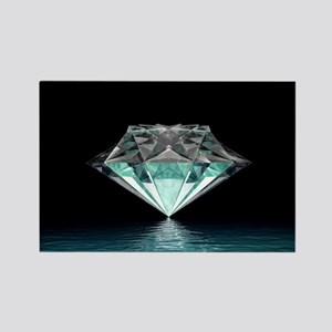 Aqua Diamond Rectangle Magnet