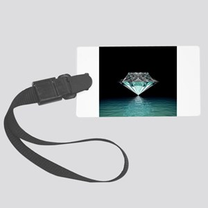 Aqua Diamond Large Luggage Tag