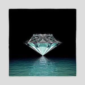 Aqua Diamond Queen Duvet
