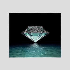 Aqua Diamond Throw Blanket
