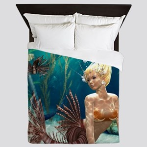 Lionfish Mermaid Queen Duvet
