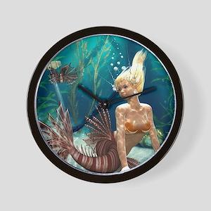 Lionfish Mermaid Wall Clock
