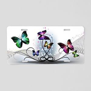 Colorful Butterflies Aluminum License Plate