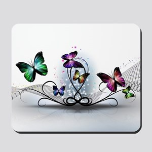 Colorful Butterflies Mousepad