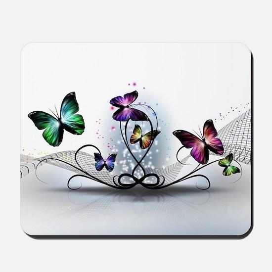 Colorful Butterflies Mousepad
