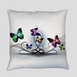 Colorful Butterflies Everyday Pillow