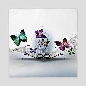 Colorful Butterflies Queen Duvet