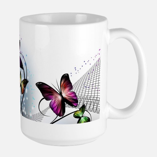 Colorful Butterflies Large Mug