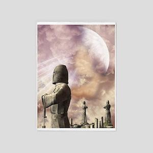 Knights Templar Statues 5'x7'Area Rug