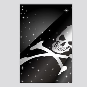 Sparkling Pirate Flag Postcards (Package of 8)