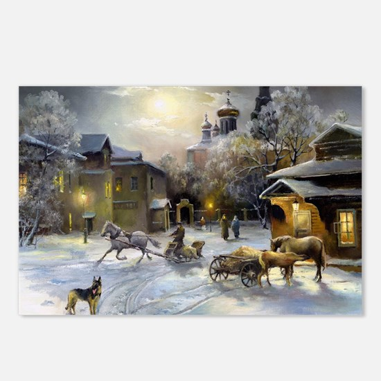 Russian Winter Painting Postcards (Package of 8)