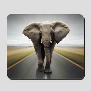 Elephant Trucker Mousepad