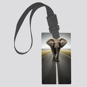 Elephant Trucker Large Luggage Tag