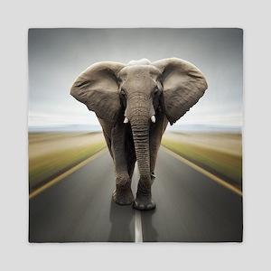 Elephant Trucker Queen Duvet