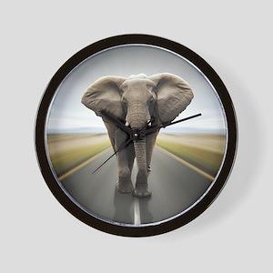 Elephant Trucker Wall Clock