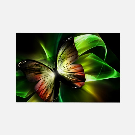Geometric Butterfly Rectangle Magnet