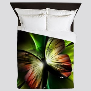 Geometric Butterfly Queen Duvet