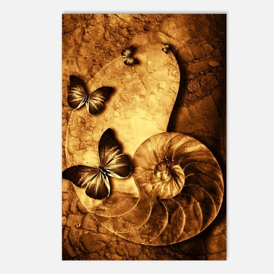 Butterflies and Shell Fos Postcards (Package of 8)