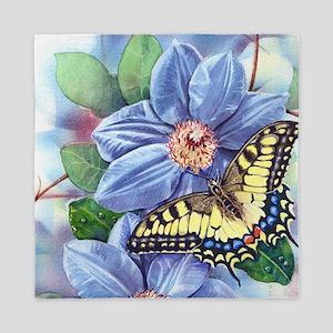 Watercolor Butterfly Queen Duvet