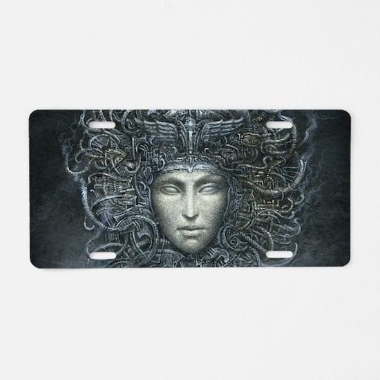 Medusa Cyborg Aluminum License Plate