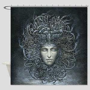 Medusa Cyborg Shower Curtain