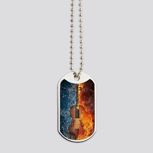 Fire and Water Violin Dog Tags
