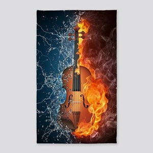 Fire and Water Violin Area Rug