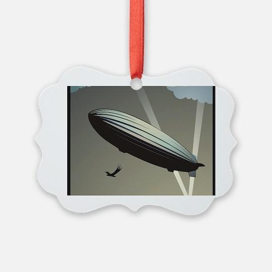 Zeppelin Skyline Picture Ornament