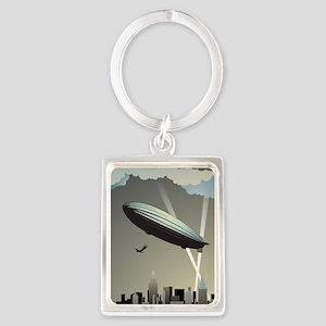 Zeppelin Skyline Portrait Keychain