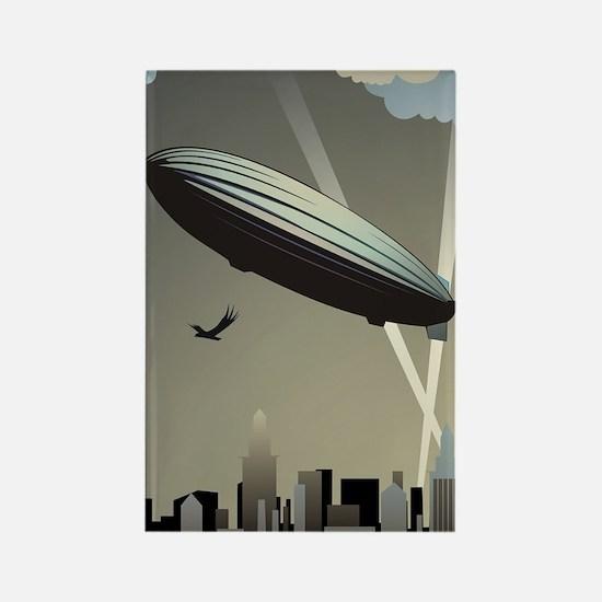 Zeppelin Skyline Rectangle Magnet