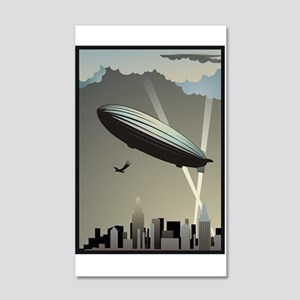 Zeppelin Skyline 20x12 Wall Decal
