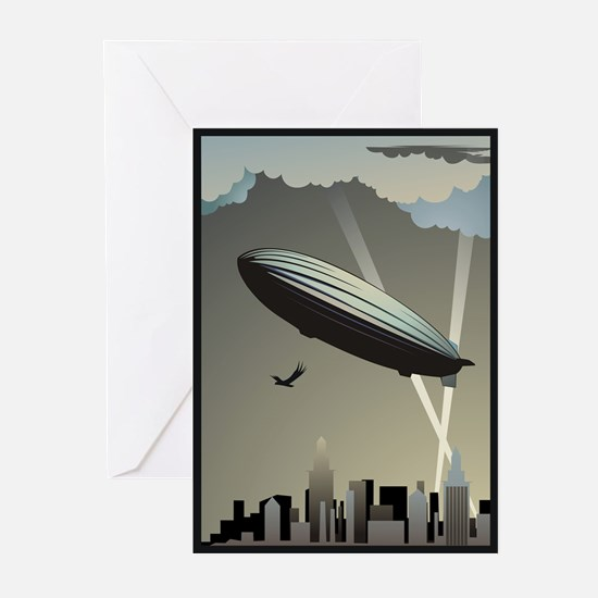 Zeppelin Skyline Greeting Cards (Pk of 20)